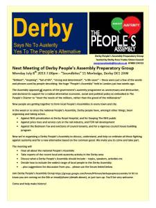 Derby People's Assembly 8 July