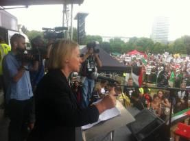 Natalie Bennett Gaza Rally