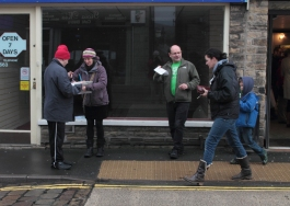 Leafleting in High Peak