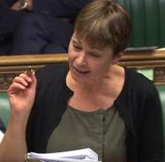 Caroline Lucas Making a point Crop